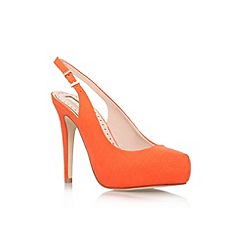 Miss KG - Orange 'Anita' high heel court shoe