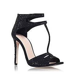 Carvela - Black 'Gappy' high heel strappy ankle strap sandal