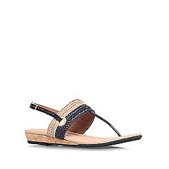 Carvela Comfort - Black/ beige 'Selina' flat sandal