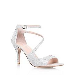 Carvela - Silver 'Gamma' high heel strappy sandal