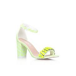 Miss KG - Lime 'Paige jewel' mid heel ankle strap sandals