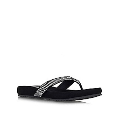 Carvela Comfort - Black 'Sparkle' flat slip on flip flop