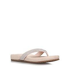 Carvela Comfort - Nude 'Sparkle' flat slip on flip flop