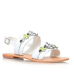 Miss KG - White 'Dandie' leather sandal
