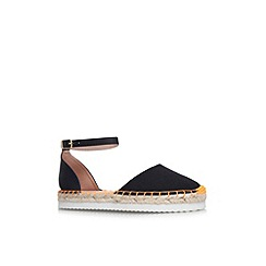 Miss KG - Black 'Dominique' flat cut out espadrille