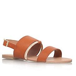 Miss KG - Tan 'Delina' flat strappy sandal