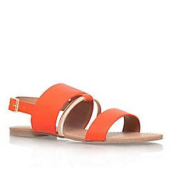 Miss KG - Orange 'Delina' flat sandal