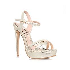 Miss KG - Gold 'Eva' high heel sandal