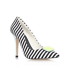 Miss KG - Blk/white 'Aubrey' high heel court shoe