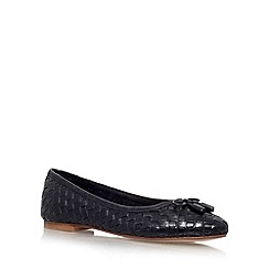 Carvela - Black 'Luggage' flat slip on ballerina pump