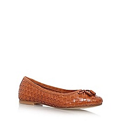 Carvela - Tan 'Luggage' flat slip on ballerina pump
