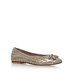 Carvela - Gold 'Luggage' flat ballerina pumps