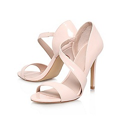 Carvela - Nude 'gee' high heeled strappy court shoe