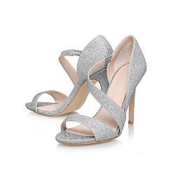 Carvela - Silver 'gee' high heeled strappy court shoe