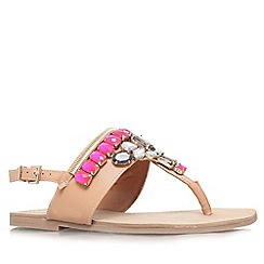 Miss KG - Tan 'Davina' flat toe post sandal