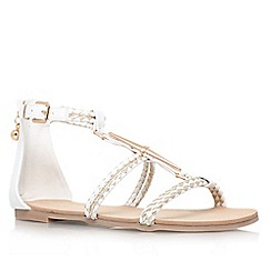 Miss KG - White other 'Rosalie' flat strappy sandal