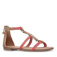 Miss KG - Tan 'Rosalie' flat strappy sandal