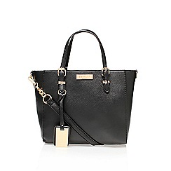 Carvela - Black 'Danna winged tote' mini tote handbag with shoulder strap
