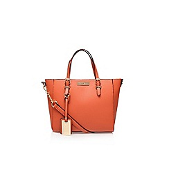 Carvela - Orange 'Danna winged tote' large handbag with shoulder strap