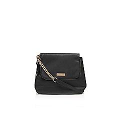 Carvela - Black/ comb 'Darcy' zip flap bag