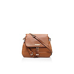 Carvela - Tan 'Darc' zip flag handbag