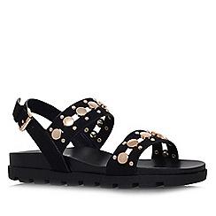 Miss KG - Black 'Dena' flat platform sandal