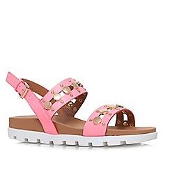 Miss KG - Pink 'Dena' flat platform sandal