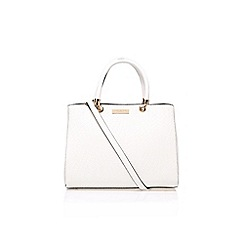 Carvela - White 'Darla' structured tote handbag with shoulder strap