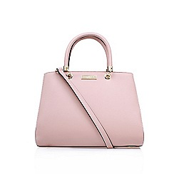 Carvela - Pink 'darla' structured tote large handbag with shoulder strap