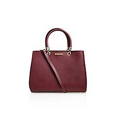Carvela - Red 'Darla' Structured Tote Handbag With Shoulder Straps