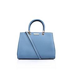 Carvela - Blue Darla structured tote handbag with shoulder straps