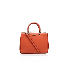 Carvela - Orange 'darla' structured tote large handbag with shoulder strap