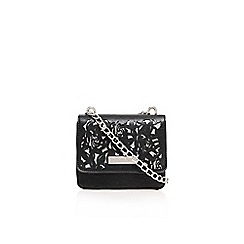 Carvela - Black 'daya flower cut out xbody' small bag