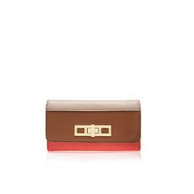 Carvela Beige comb ´Carla´ lock wallet tri fold purse - . -