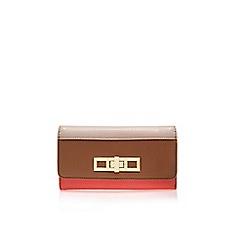 Carvela - Beige comb 'Carla' lock wallet tri fold purse