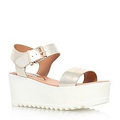 Miss KG - Gold 'Poppy' flat platform sandal