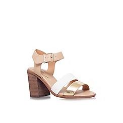 Miss KG - Tan 'Pariss' mid heel strappy sandal