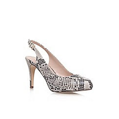 Miss KG - Beige comb 'Amelie' high heel slingback court shoe