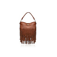 Carvela - Tan 'Cat tassel hobo' fringe detail handbag