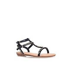 Miss KG - Black 'Roz' flat strappy sandal