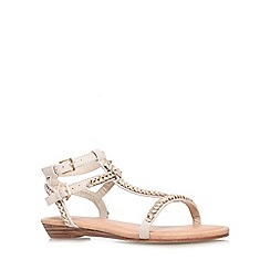Miss KG - Nude 'Roz' flat strappy sandal