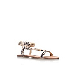 Miss KG - Gold 'Jamie' flat strappy sandal