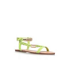 Miss KG - Lime 'Jamie' flat sandal