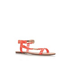 Miss KG - Orange 'Jamie' flat strappy sandal