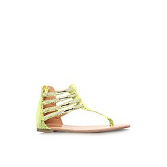 Miss KG - Lime 'Dixie' flat toe post strappy sandal