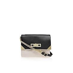 Carvela - Black/ comb 'Char' double zip crossbody bag