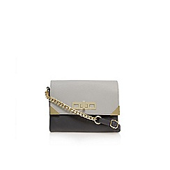 Carvela - Grey/ other 'Char' double zip crossbody bag