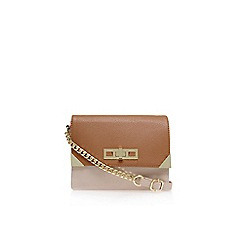 Carvela - Beige comb 'Char' double zip crossbody bag