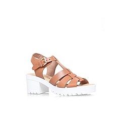Miss KG - Tan 'Pia' mid heel platform sandal