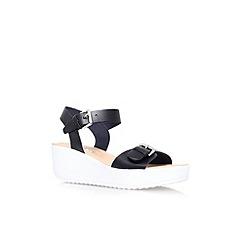Miss KG - Black 'Petunia' mid wedge heel sandal